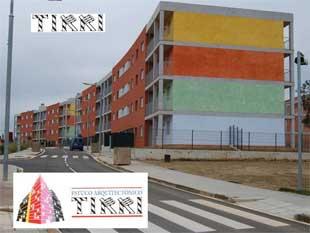 Realizamos estampados de fachadas con distintas técnicas y materiales.