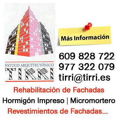 Estuco Arquitectónico Tirri - Teléfono y Email