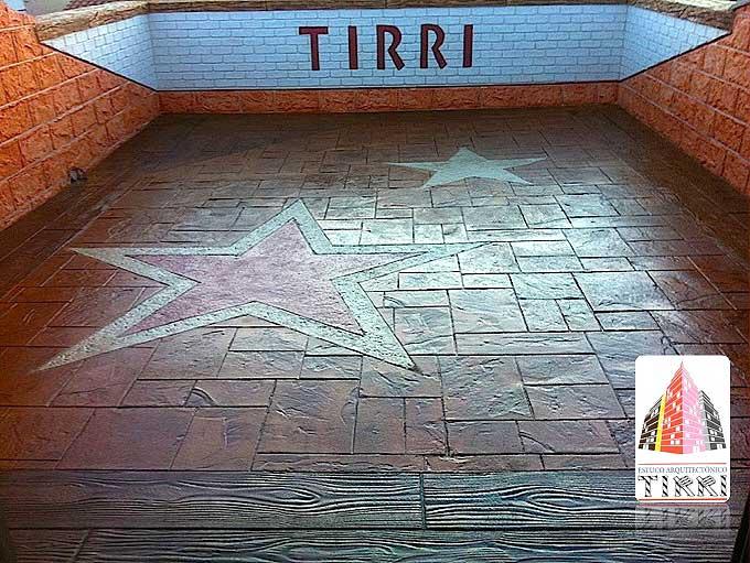 Trabajos realizado en Tarragona. Suelo de Pavimento Impreso