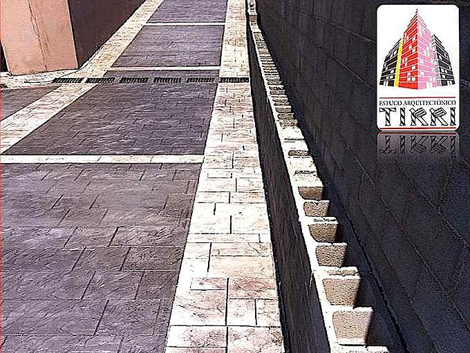 Trabajo realizado por Tirri. Suelo de Hormigón Impreso en Tarragona