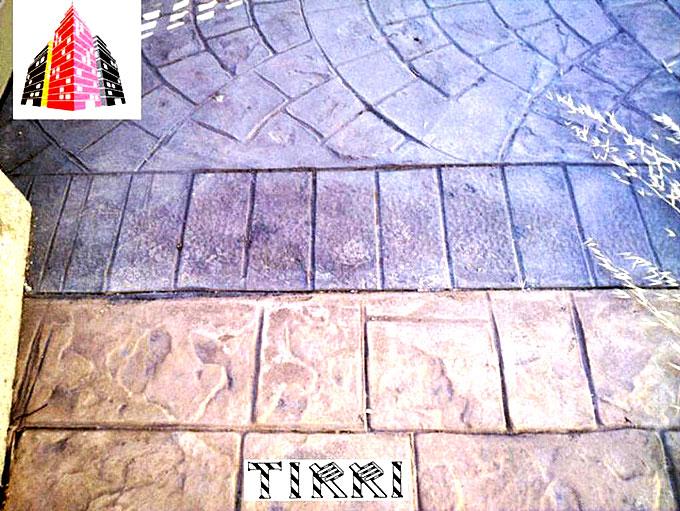 Ejemplo de suelo de hormigón impreso realizado por Estuco Arquitectónico Tirri.