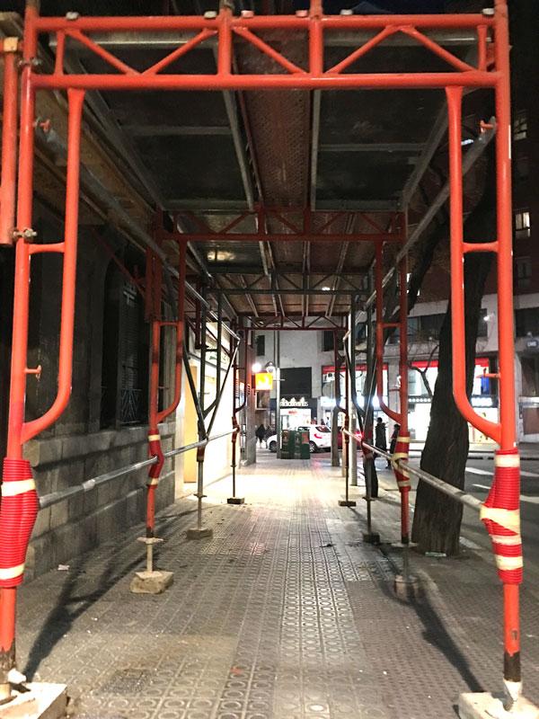 Andamio Puente de Seguridad para peatones